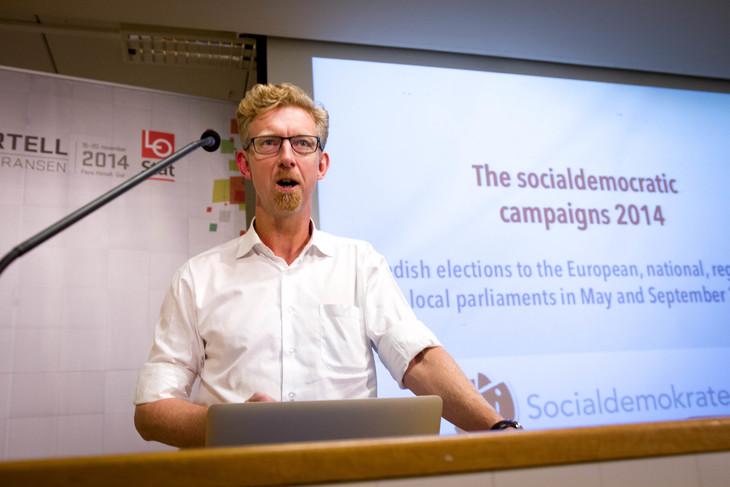 Jan Larsson ledet Socialdemokraternas kampanje fram til Riksdagsvalget i september. Foto: Siri Hardeland