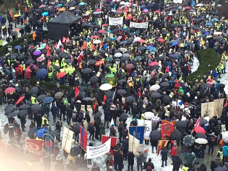 Fra markeringen på Eidsvolls plass Oslo, 28. januar