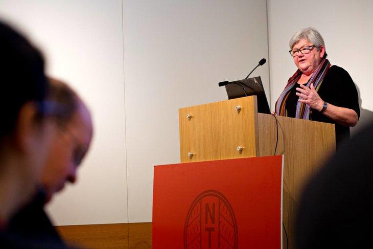Tone Rønoldtangen liker ikke planene til Regjeringen. PÅ NTLs landstyremøte skisserte hun hva hun tror kommer i de kommende lønns- og tariffoppgjørene. Foto: Anette Karlsen