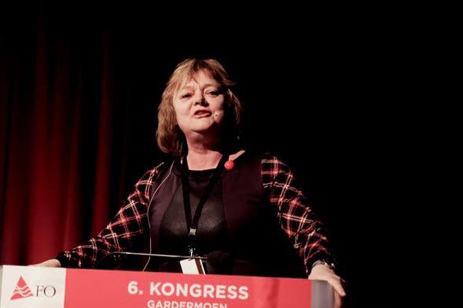 Mimmi Kvisvik, FO-kongressen 2015. Foto: Solfrid Rød
