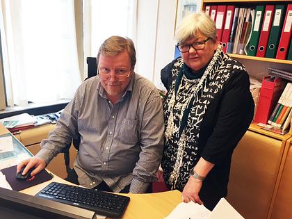 Tariff 2015: Eivind Gran og Tone Rønoldtangen. Foto: LO Stat