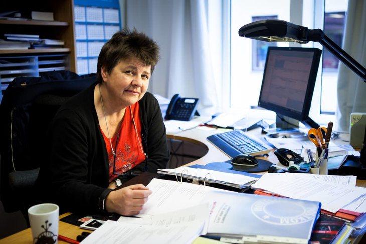Gerd Øiahals, nestleder og forhandlingsleder i Postkom Foto: Morten Hansen
