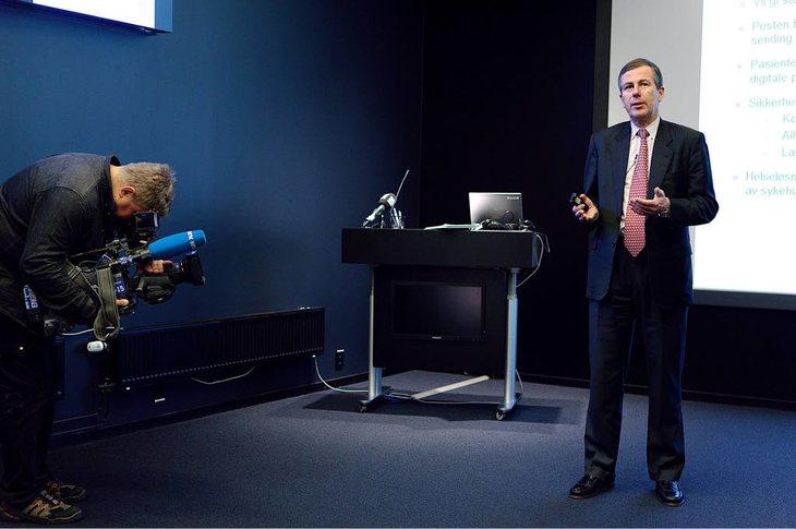 LØNNSVEKST: Postens konsernsjef, Dag Mejdell, fikk et lønnshopp på 6,5 prosent – over tre prosent mer enn det de ansatte i Posten. Foto: Erlend Dalhaug Daae