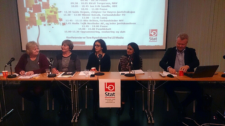 Panelet, kriminalpolitisk konferanse, Folkets hus, oktober 2015