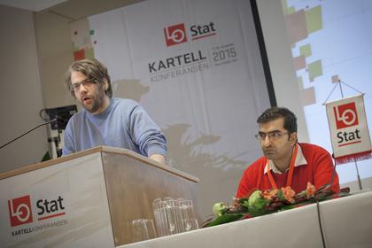 Øyvind Strømmen (t.v.) og Shoaib Sultan holdt foredraget